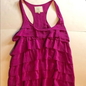 Magenta Madison Marcus Ruffled Dress